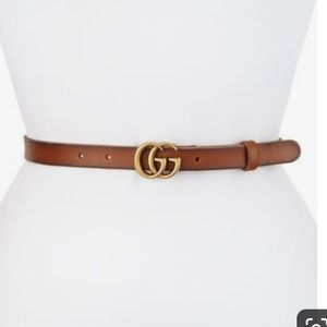 Gucci Thin GG Leather Belt